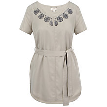 Buy Celuu Josie Embroidered Tunic Top, Beige Online at johnlewis.com