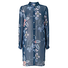 Buy East Wednesday Print Tunic Top, Blue/Multi Online at johnlewis.com