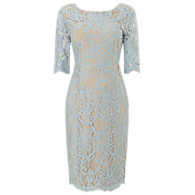 Buy Phase Eight Odile Lace Dress, Blue Dove Online at johnlewis.com