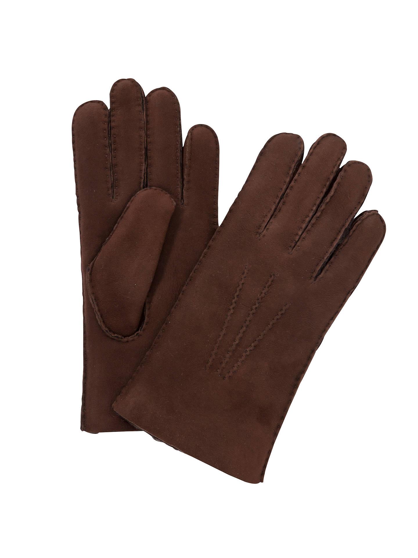 54af950317ff4 Buy John Lewis Lambskin Gloves, Chocolate, M Online at johnlewis.com ...
