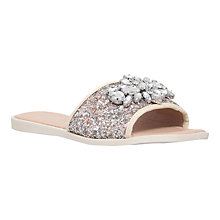 Buy Miss KG Rebecca Slip On Sandals, Silver Online at johnlewis.com