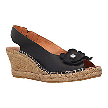 Buy Carvela Comfort Poppy Wedge Heeled Peep Toe Sandals, Black Online at johnlewis.com