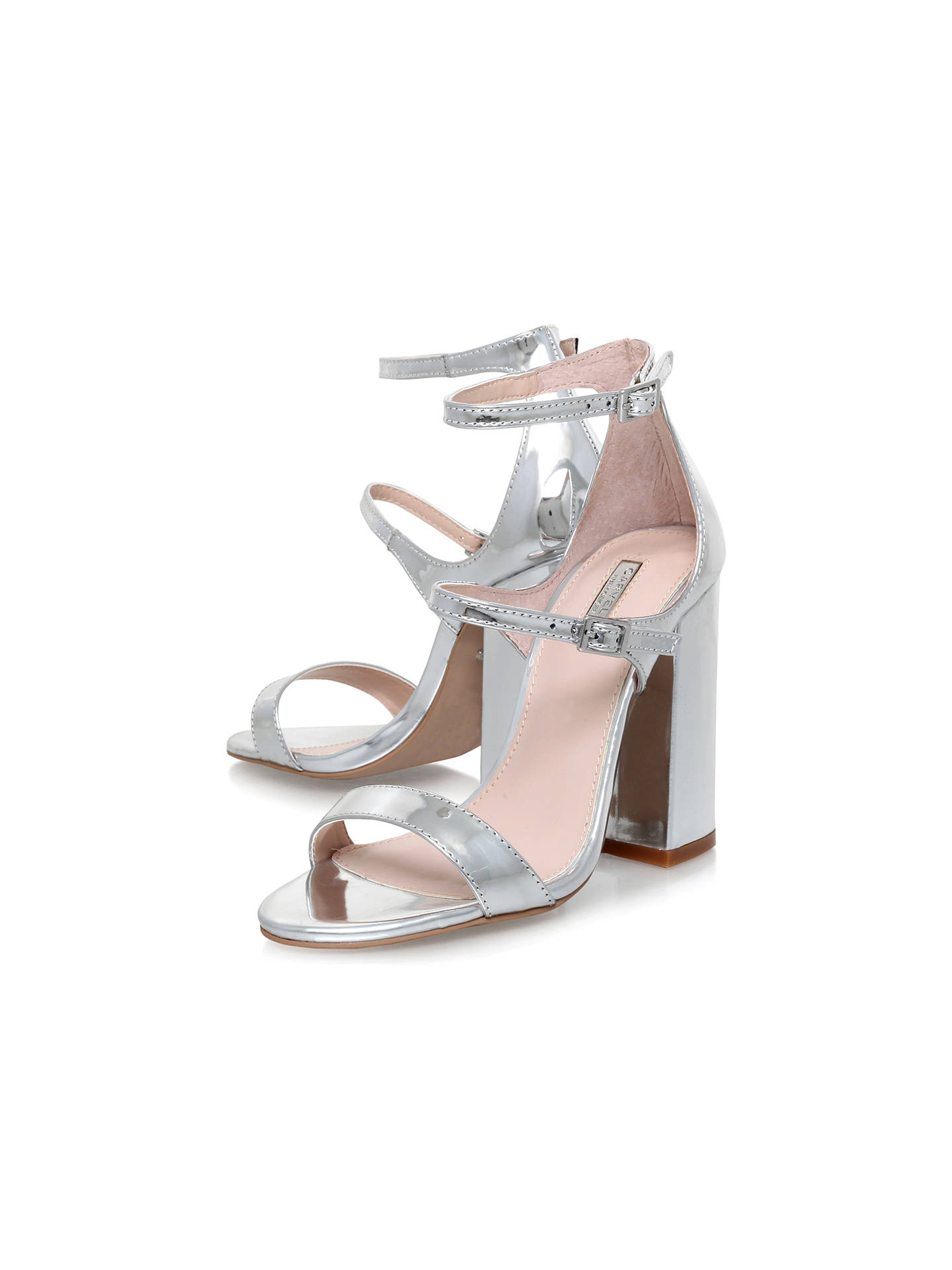 2e6049c1540 Carvela Genetic Double Strap Block Heeled Sandals at John Lewis ...