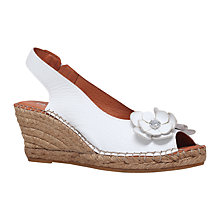 Buy Carvela Comfort Poppy Wedge Heeled Peep Toe Sandals Online at johnlewis.com