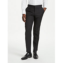 Buy Richard James Mayfair Hopsack Wool Dress Suit Trousers, Black Online at johnlewis.com