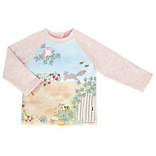 Buy John Lewis Baby Woodland Scene Jumper, Cream/Multi Online at johnlewis.com