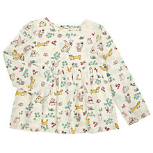 Buy John Lewis Baby Woodland Print Blouse, Cream/Multi Online at johnlewis.com