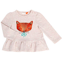 Buy John Lewis Baby Long Sleeved Fox T-Shirt, Cream Online at johnlewis.com