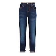 Buy John Lewis Girls' Boyfriend Jeans, Blue Online at johnlewis.com