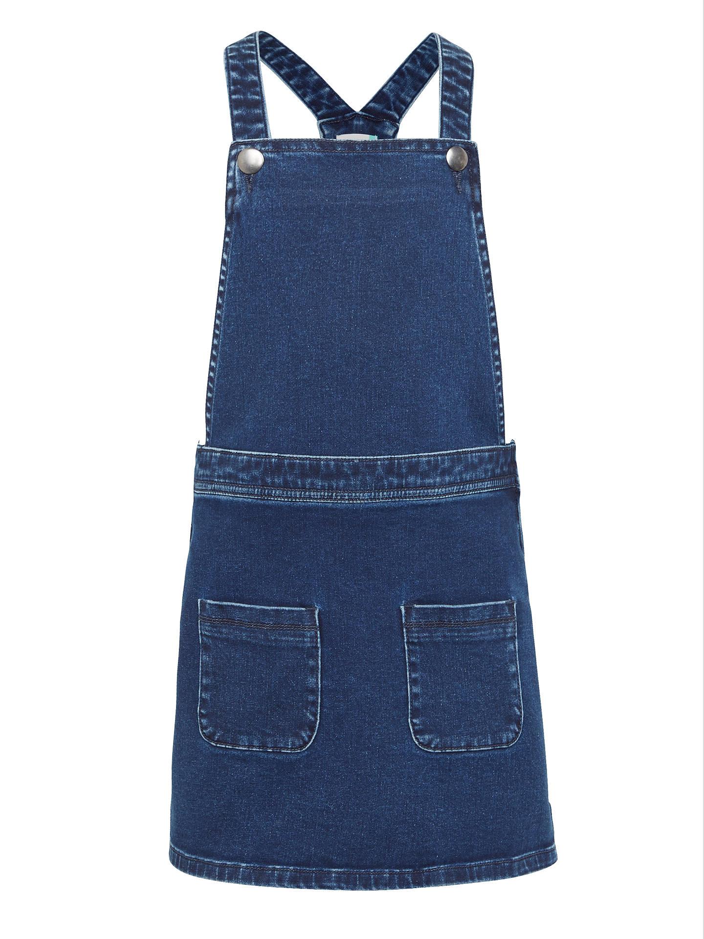 68ad6ccbdb83 Buy John Lewis Girls' Denim Pinafore Dress, Blue, 2 years Online at  johnlewis ...