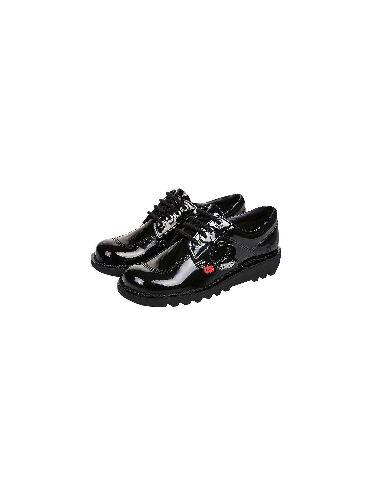 b014ff90 Buy Kickers Children's Kick Lo Lace Up Shoes, Black Patent, 31 Online at  johnlewis