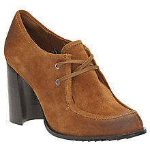 Buy Clarks V&A Cass Day Block Heeled Court Shoes, Tan Online at johnlewis.com