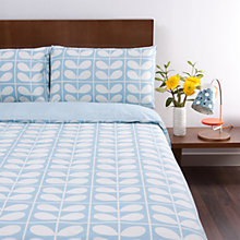 Buy Orla Stem Grid Bedding, Light Blue Online at johnlewis.com