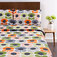 Buy Orla Kiely Oval Flower Bedding, Tomato Online at johnlewis.com