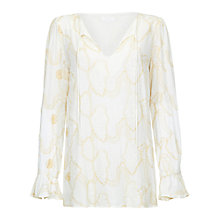 Buy Ghost Alisha Blouse, Ivory Online at johnlewis.com