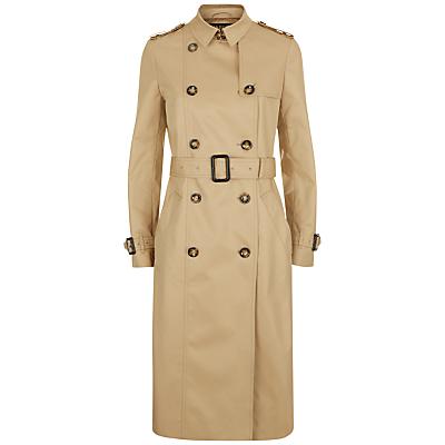 Retro Vintage Style Coats, Jackets, Fur Stoles Jaeger Classic Trench Coat Stone £227.00 AT vintagedancer.com
