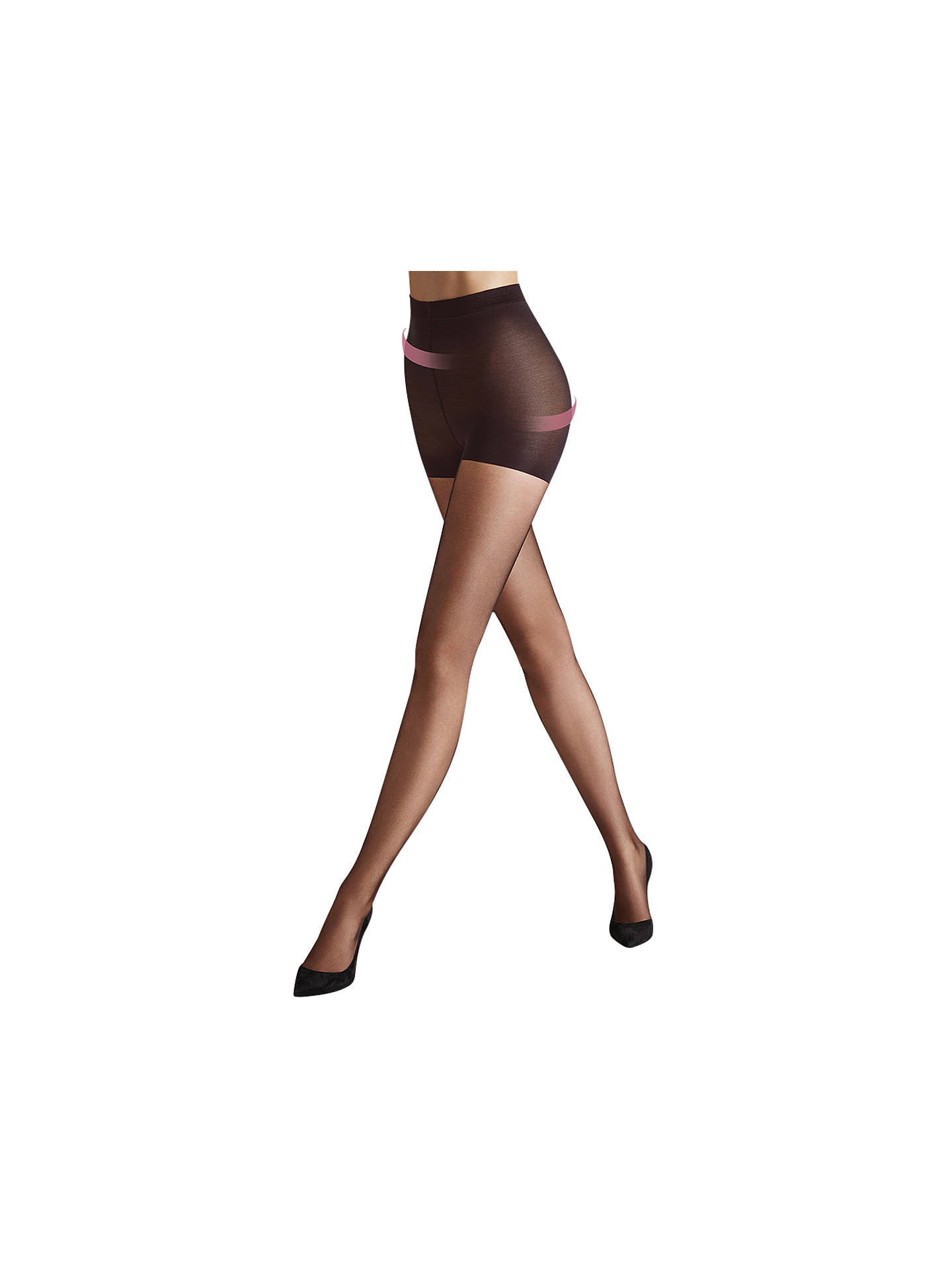 00eb528d17931 Buy Wolford Individual 10 Denier Control Top Tights, Nearly Black, S Online  at johnlewis