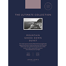 John Lewis The Ultimate Collection British Goose Down Bedding