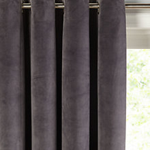 Buy John Lewis Lustre Velvet Lined Eyelet Curtains Online at johnlewis.com