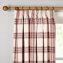 Buy John Lewis Lyndhurst Check Lined Pencil Pleat Curtains Online at johnlewis.com
