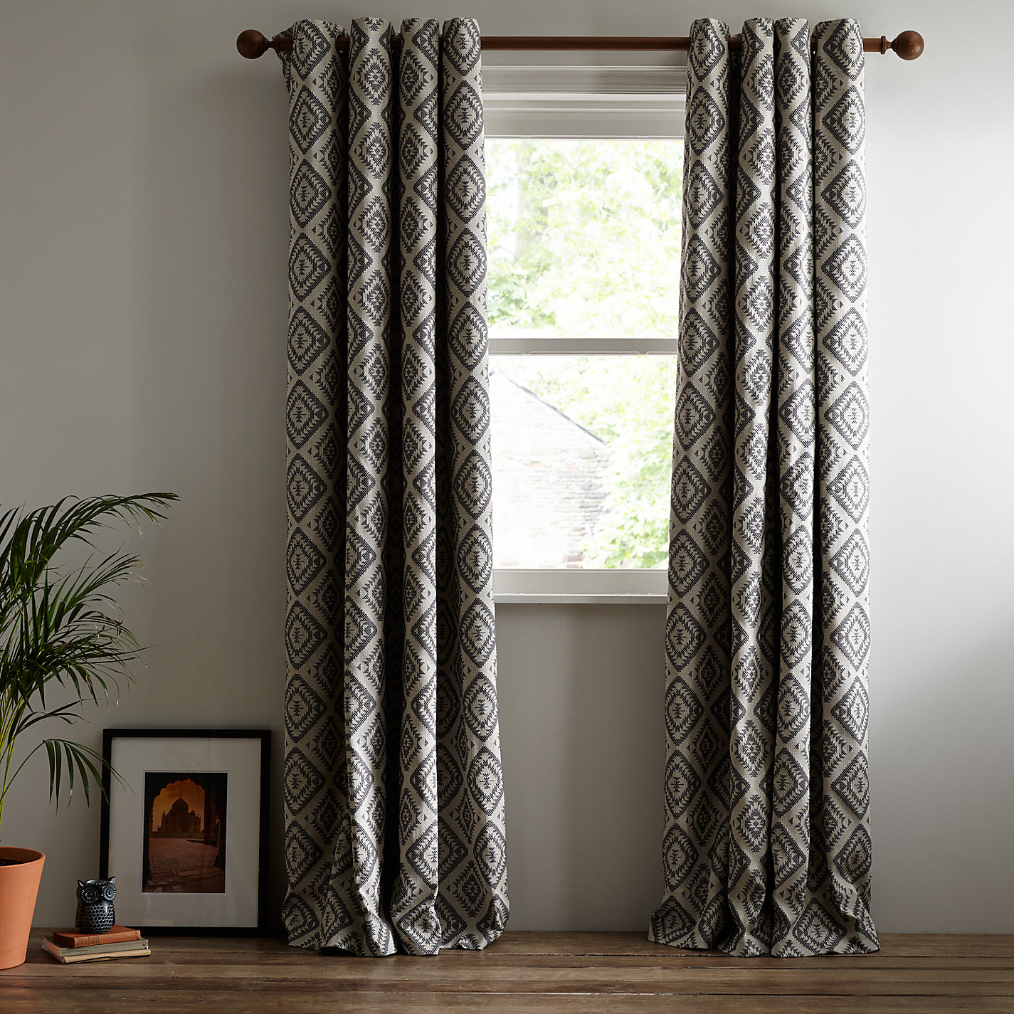 Buy John Lewis Native Weave Lined Eyelet Curtains Online At Johnlewis
