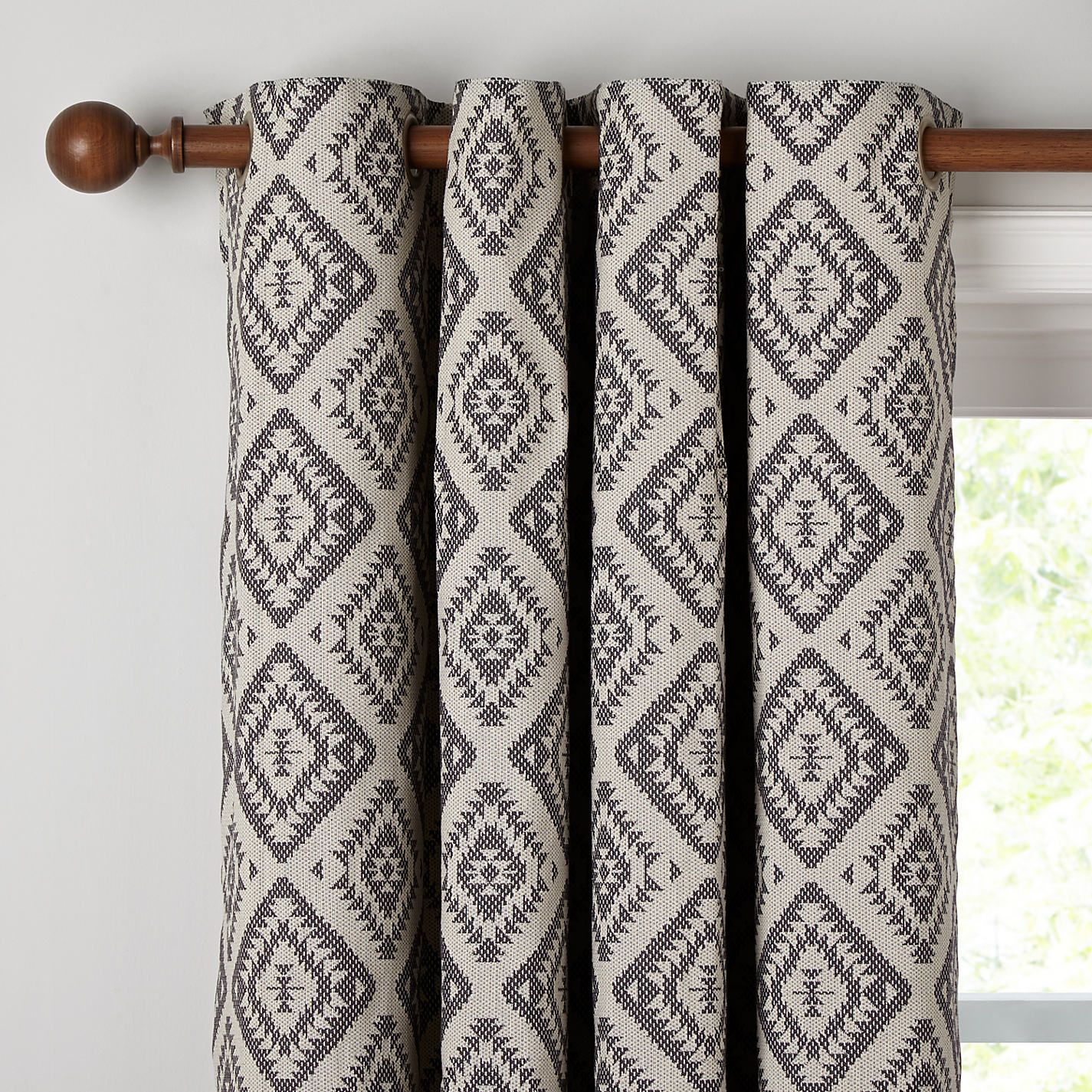 Buy John Lewis Native Weave Lined Eyelet Curtains John Lewis - John lewis curtains grey