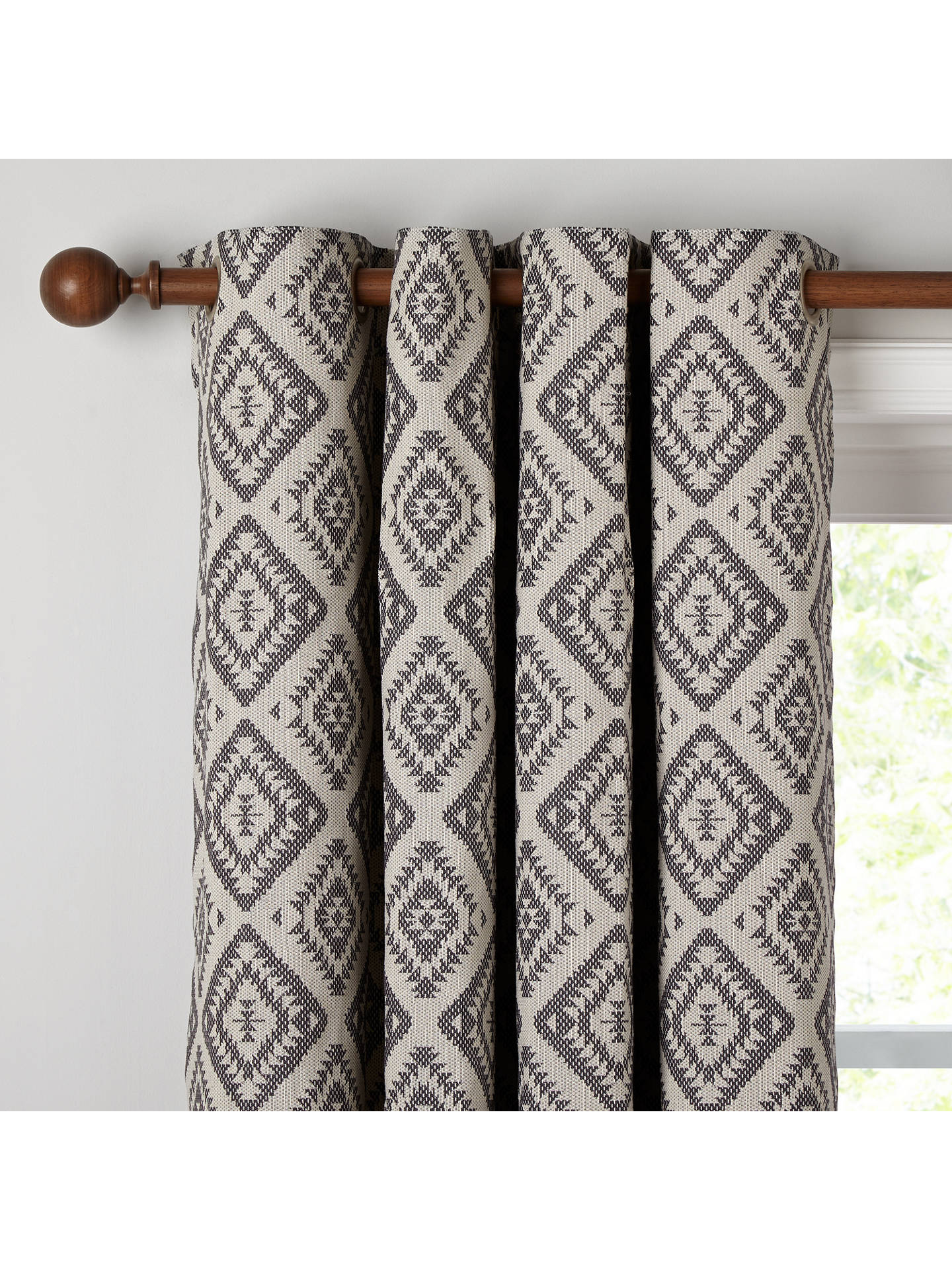 Buy John Lewis & Partners Native Weave Pair Lined Eyelet Curtains, Steel, W167 x Drop 228cm Online at johnlewis.com