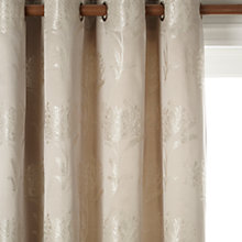 Buy John Lewis Rosalind Lined Eyelet Curtains, Silver Online at johnlewis.com