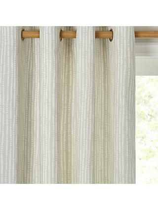 John Lewis & Partners Xander Pair Lined Eyelet Curtains, Grey