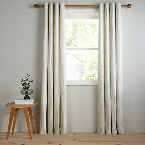 Buy John Lewis Xander Lined Eyelet Curtains John Lewis - John lewis curtains grey
