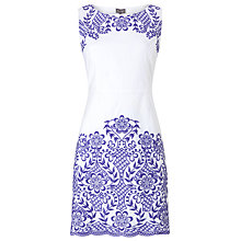 Buy Phase Eight Eden Embroidered Dress, Blue/White Online at johnlewis.com