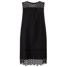 Buy Phase Eight Marguerite Crochet Dress, Black Online at johnlewis.com