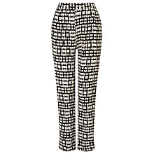 Buy Phase Eight Justyne Print Trousers, Black/Stone Online at johnlewis.com