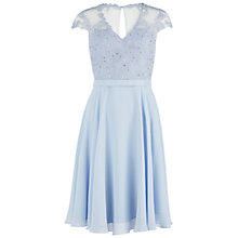 Buy Gina Bacconi Chiffon Dress With Fancy Bodice, Blue Online at johnlewis.com