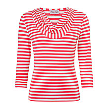 Buy Phase Eight Carrie Stripe Top, Lobster/White Online at johnlewis.com