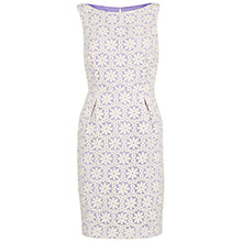 Buy Gina Bacconi Daisy Embroidered Organza Dress, Spring Lavender Online at johnlewis.com