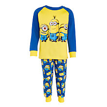 Buy Minions Children's Pyjamas, Yellow Online at johnlewis.com