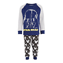 Buy Star Wars Children's Darth Vader Pyjamas, Blue Online at johnlewis.com