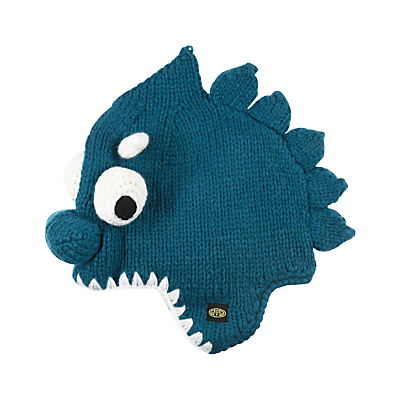 Animal Children's Knitted Monstaa Character Hat, Teal