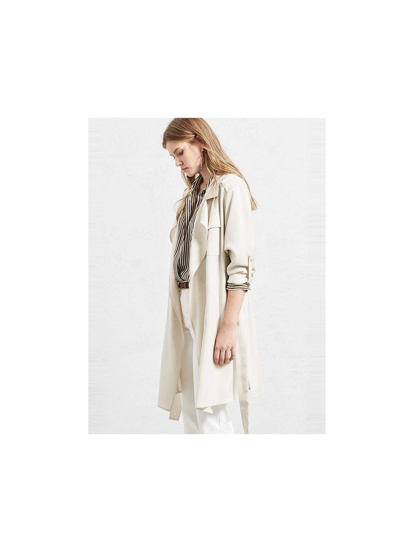BuyVioleta by Mango Soft Trench Coat, Brown, S Online at johnlewis.com