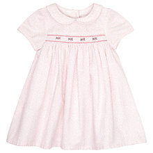 Buy John Lewis Ditsy Smock Dress, Pink Online at johnlewis.com