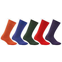 Buy John Lewis Plain Bright Socks, Pack of 5, Multi Online at johnlewis.com