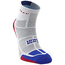 Buy Hilly Twin Skin Socklets, White/Grey Online at johnlewis.com