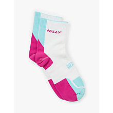 Buy Hilly Twin Skin Socklets, White/Pink Online at johnlewis.com