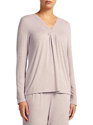 John Lewis & Partners Alicia Jersey Long Sleeve Pyjama Top