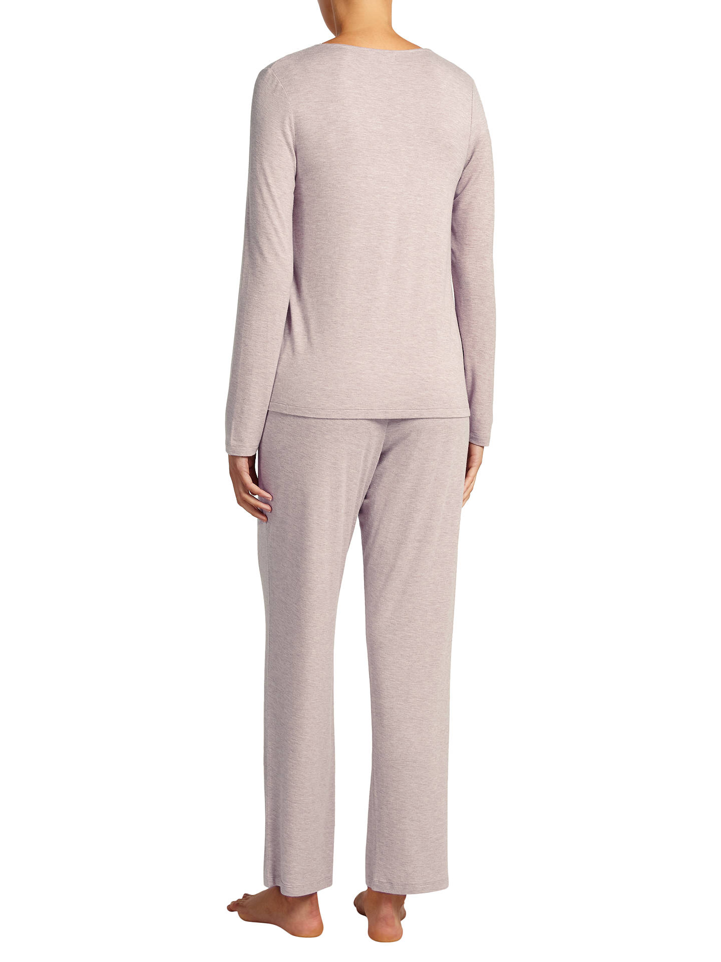 Buy John Lewis & Partners Alicia Jersey Long Sleeve Pyjama Top, Mocha, 10 Online at johnlewis.com