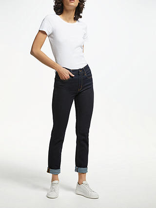 Buy Levi's The Perfect Pocket T-Shirt, White, XS Online at johnlewis.com