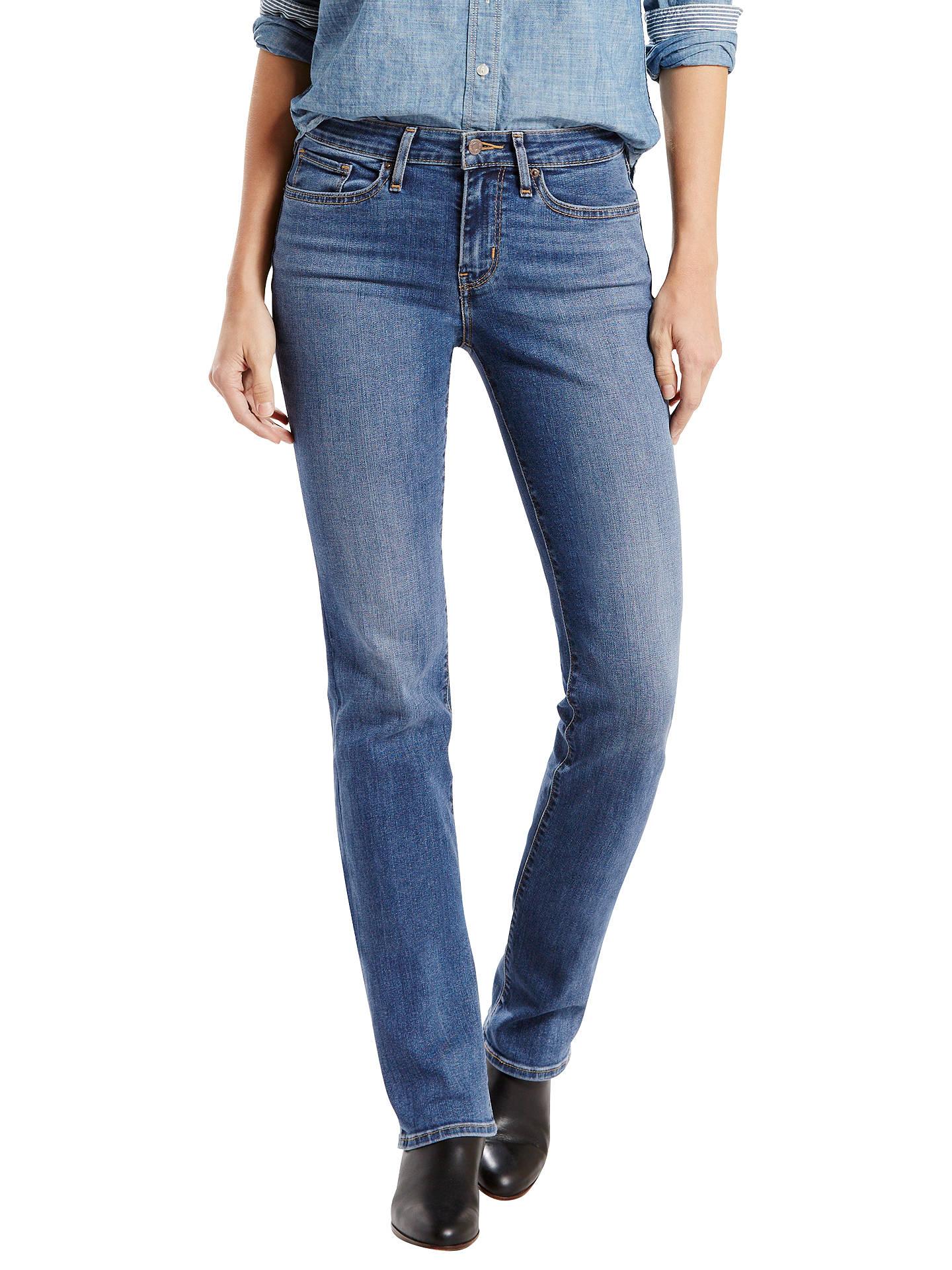 e8713b07 Buy Levi's 714 Mid Rise Straight Jeans, Blue Vista, W27/L32 Online at ...