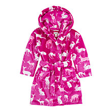 Buy Hatley Children's Deers and Bunnies Dressing Robe, Pink Online at johnlewis.com