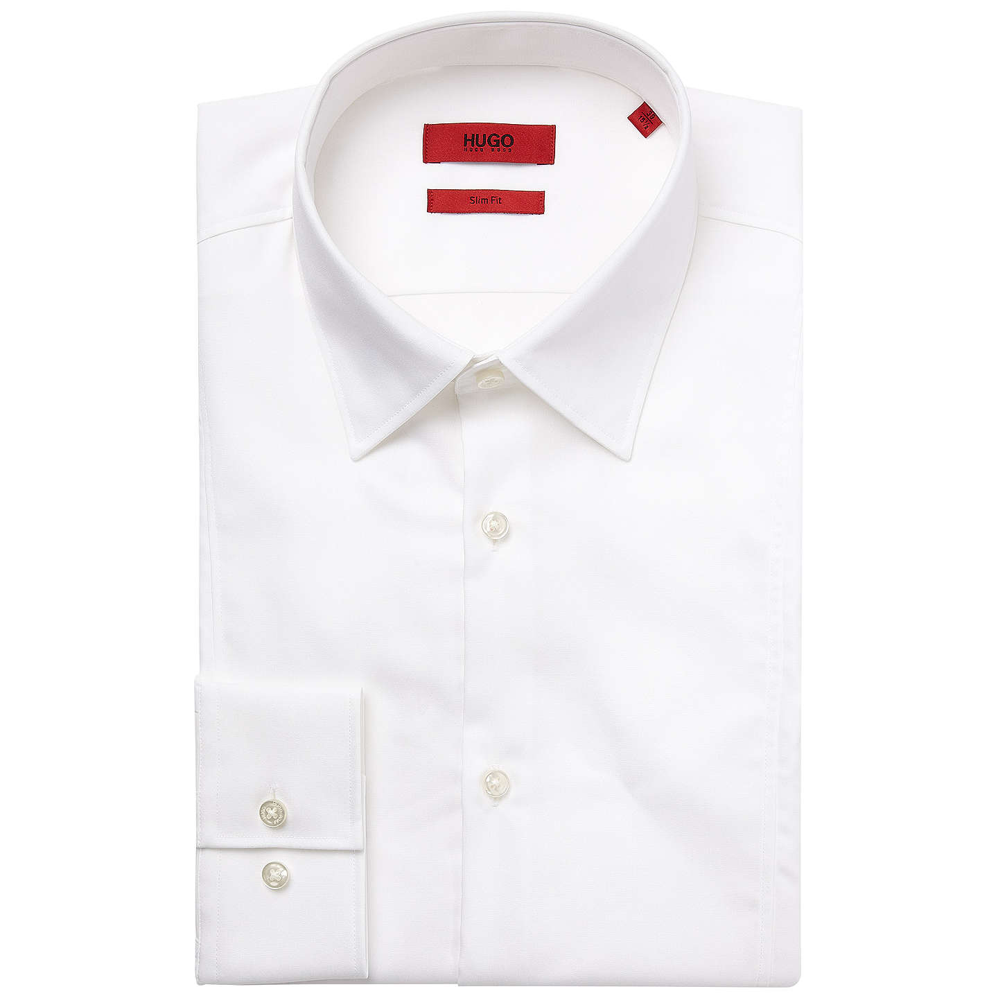 BuyHUGO by Hugo Boss C-Phillo Slim Fit Shirt, Open White, 15 Online ...